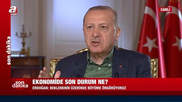 Başkan Erdoğan'dan A Haber canlı yayınında enflasyon ve faiz açıklaması: Yüksek faiz yok - Video