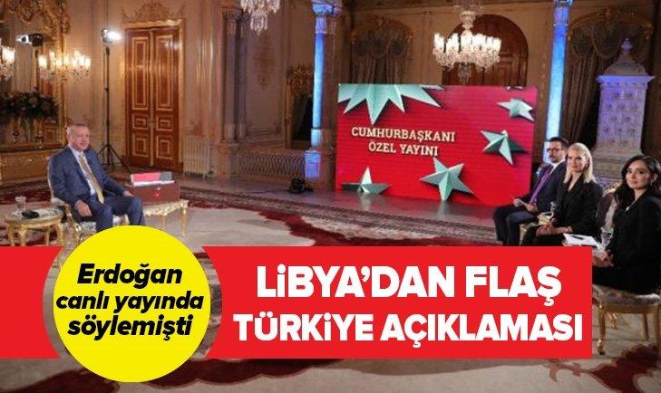 LİBYA'DAN FLAŞ TÜRKİYE AÇIKLAMASI!