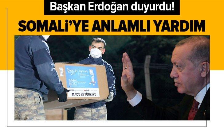 Başkan Erdoğan'dan Somali'ye yardım paylaşımı!