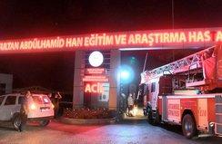 Hastanede çıkan yangın söndürüldü!