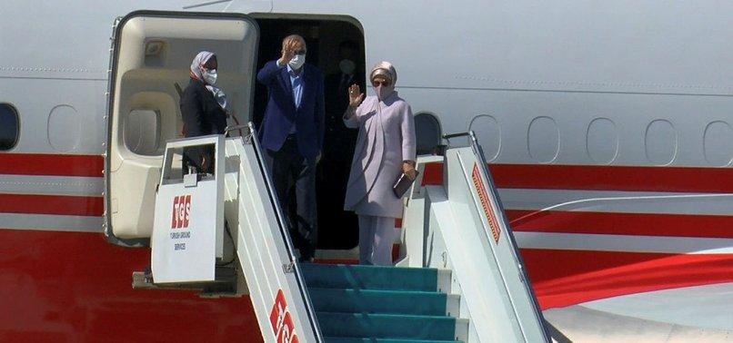 BM Genel Kurulu'na katılmak üzere ABD'ye giden Başkan Recep Tayyip Erdoğan'ın uçağı indi