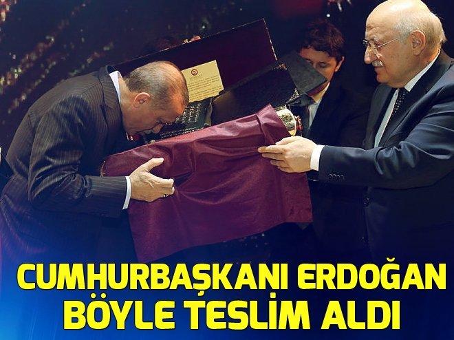 CUMHURBAŞKANI ERDOĞAN'A HEDİYE EDİLDİ!