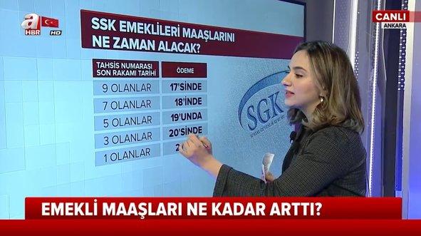 Milyonlarca SSK ve BağKur emeklisinin zamlı maaş heyecanı