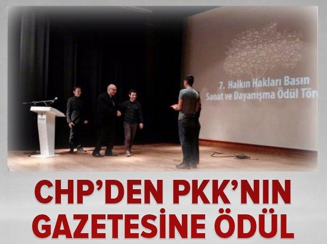 CHP, PKK'NIN GAZETESİNE ÖDÜL VERDİ