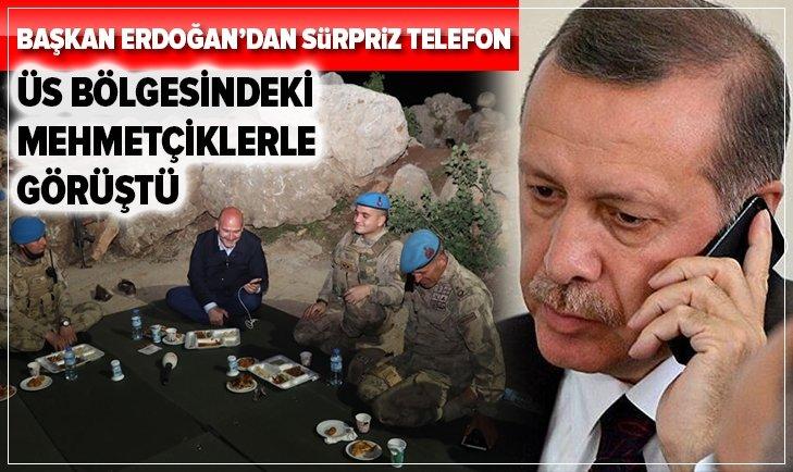 Başkan Erdoğan, Namaz Dağı üs bölgesindeki askerlerin bayramını kutladı