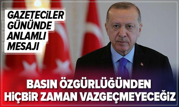 Başkan Erdoğan'dan Gazeteciler Günü mesajı