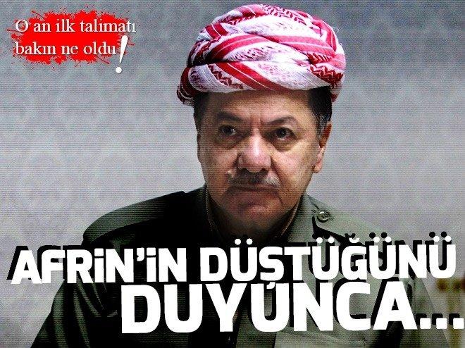 TSK'NIN ZAFERİNE BARZANİ'DEN YAS