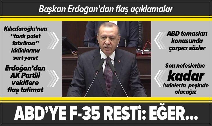Erdoğan'dan ABD'ye F-35 resti: Eğer bu tavır sürerse...