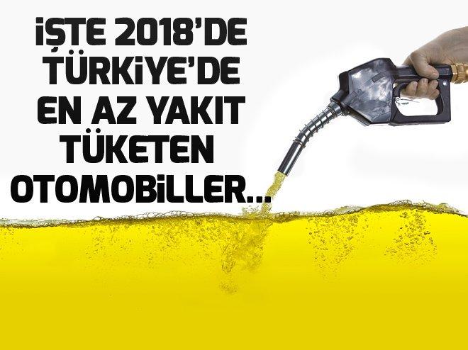 İşte 2018 yılında Türkiye'de en az yakıt tüketen otomobillerin listesi...