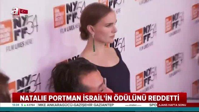 İsrailli ünlü yıldız Natalie Portman İsrail'in ödülünü reddetti! Tören iptal edildi