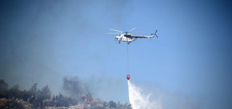 Son dakika: Mersin'de bir orman yangını daha