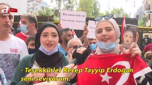 Beyrut'ta Başkan Erdoğan sevgisi