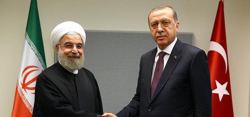 Son dakika: Başkan Erdoğan İran Cumhurbaşkanı Hasan Ruhani ile görüştü
