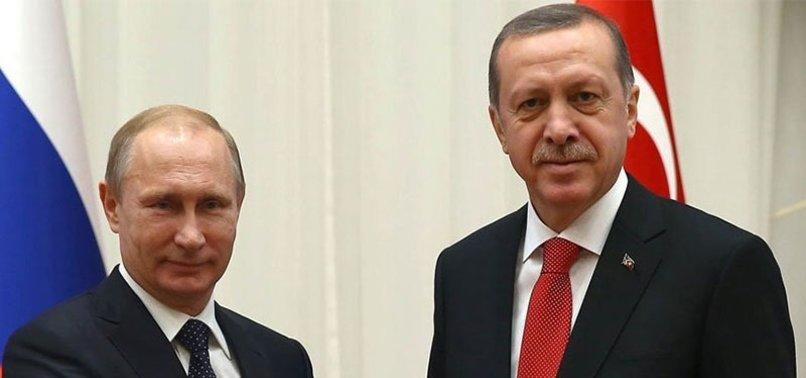 CUMHURBAŞKANI ERDOĞAN'DAN PUTİN'E TEBRİK TELEFONU