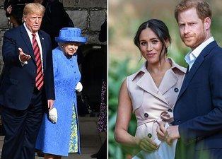 Donald Trump Prens Harry ve Meghan Markle'a seslendi: Duydum ki buraya gelmişsiniz