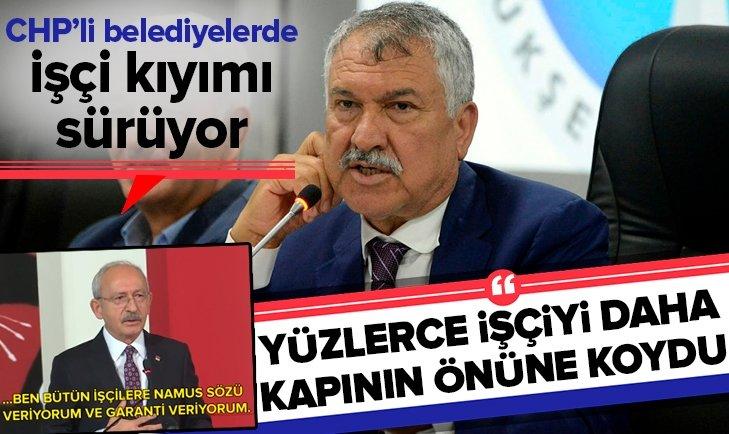 CHP'Lİ BELEDİYEDE İŞÇİ KIYIMI!