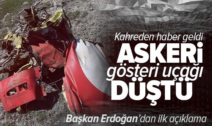 Son dakika: Konya'da askeri gösteri uçağı düştü! Kahreden haber geldi: Pilot şehit oldu