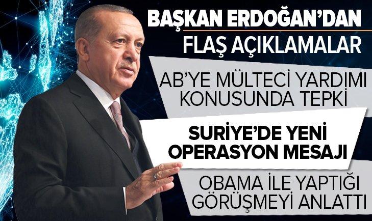 Başkan Recep Tayyip Erdoğan'dan AB'ye mülteci eleştirisi!