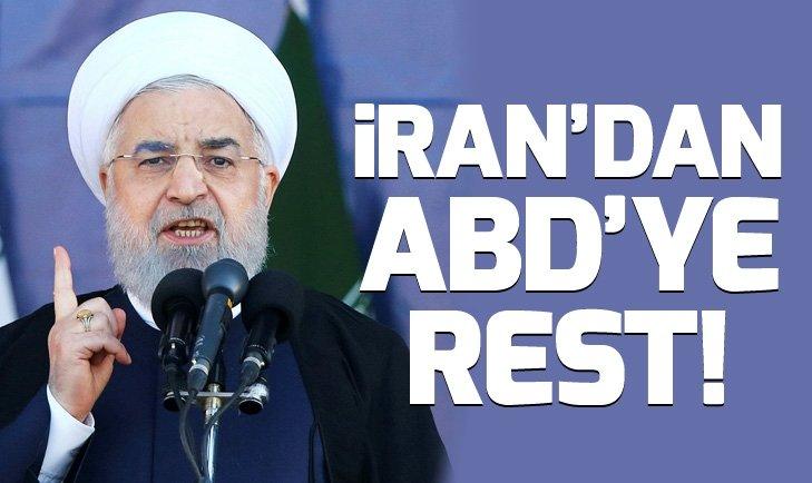 İRAN'DAN ABD'YE YAPTIRIM RESTİ!