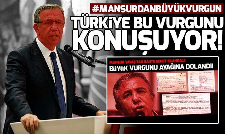 Mansur Yavaş'ın 'sahte senet' skandalına ilişkin AK Parti'den açıklama!