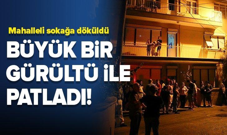 BUCA'DA BÜYÜK BİR GÜRÜLTÜYLE PATLADI!