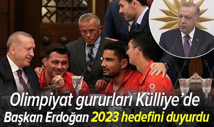 Son dakika: Olimpiyat gururları Külliye'de | Başkan Erdoğan'dan flaş açıklamalar