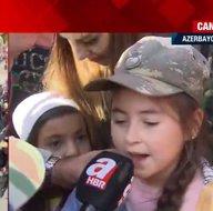 Ermenistan yenilgiyi kabul etti! Azerbaycan halkı büyük coşkusunu A Haberle paylaştı! Minik kız: Ne oldu Paşinyan?
