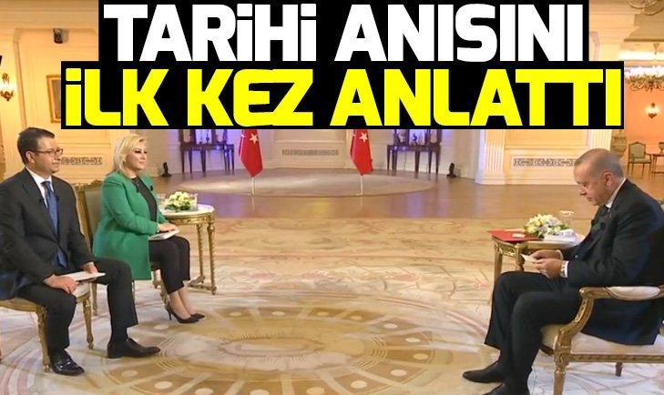 Başkan Erdoğan tarihi anısını ilk kez A Haber'de anlattı