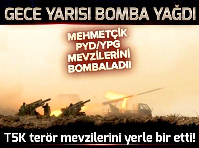 TERÖR ÖRGÜTÜ PYD'YE GECE YARISI BOMBA YAĞDI!
