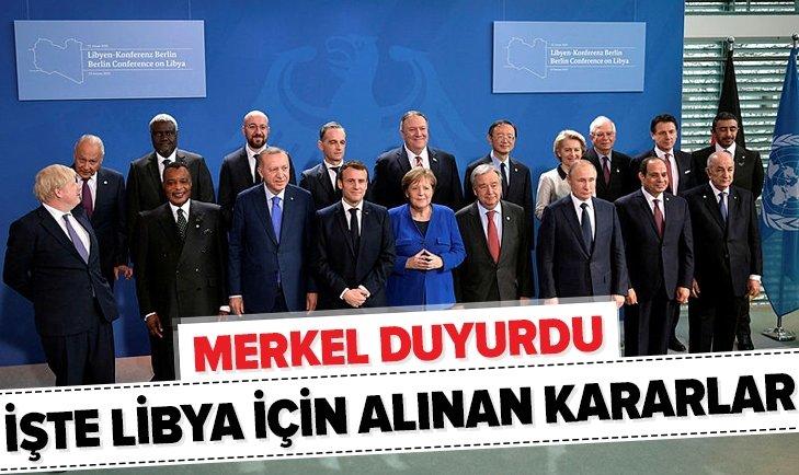 Merkel'den Libya açıklaması: Anlaştık