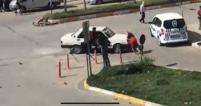 Zonguldak'ta akılalmaz olay! Arabayı üzerine sürdü