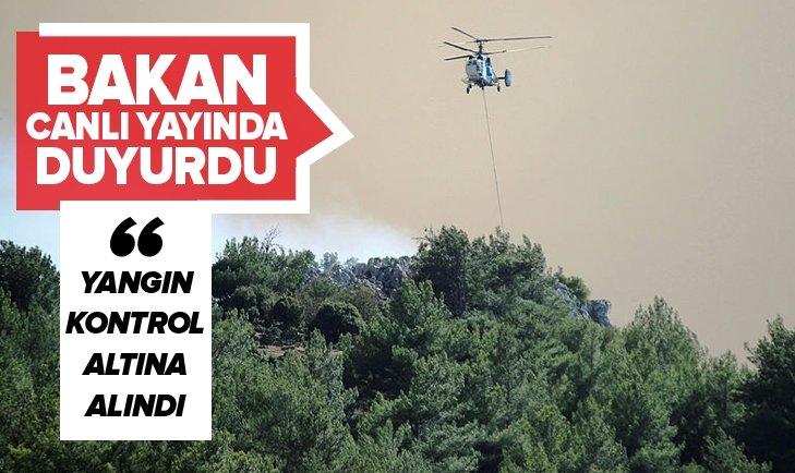 İZMİR'DEKİ YANGIN KONTROL ALTINA ALINDI