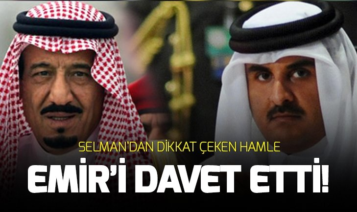 KRAL SELMAN'DAN KATAR EMİRİ'NE DAVET!