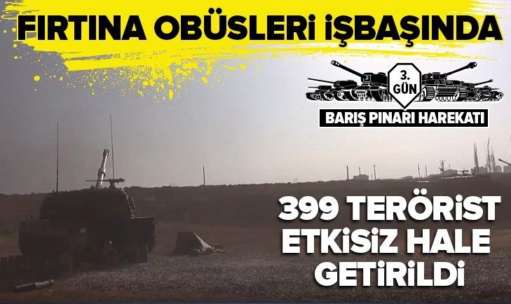 Milli Savunma Bakanlığı: 399 terörist etkisiz hale getirildi