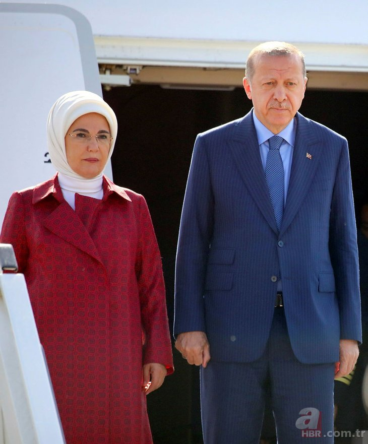 Başkan Recep Tayyip Erdoğan Almanya'da böyle karşılandı