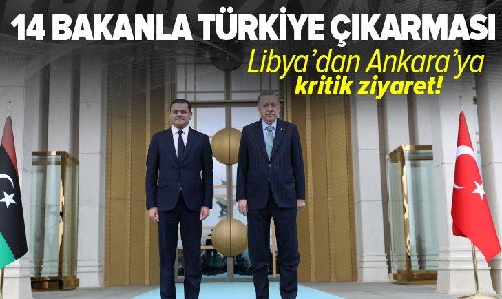 Son dakika: Libya Başbakanı Abdulhamid Dibeybe Ankara'da! Başkan Erdoğan resmi törenle karşıladı