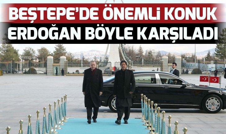 Başkan Erdoğan, Pakistan Başbakanı Khan'ı kabul etti