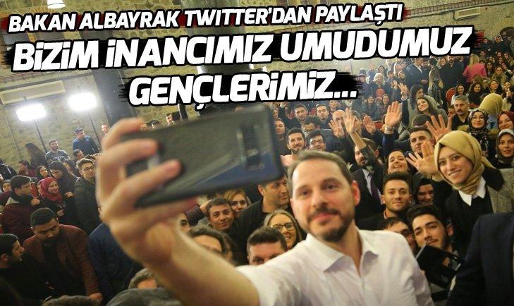 Bakan Albayrak, Twitter'dan paylaştı! Bizim umudumuz gençlerimiz...