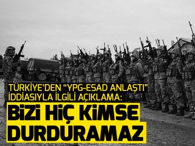 Türkiye'den, YPG Afrin'i Esad'a bırakıyor iddialarıyla ilgili açıklama