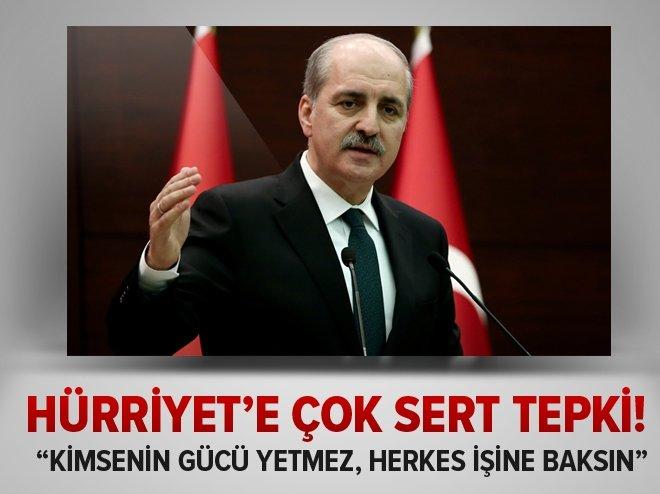 BAKANLAR KURULU SONRASI HÜRRİYET'E SERT TEPKİ!