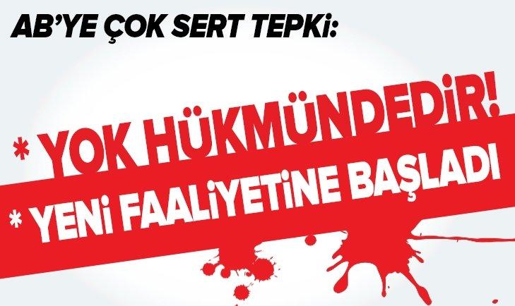 FUAT OKTAY'DAN AB'YE SERT TEPKİ!