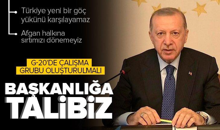 Son dakika: Başkan Erdoğan'dan G20 Zirvesi'nde önemli açıklamalar! Kritik Afganistan mesajı