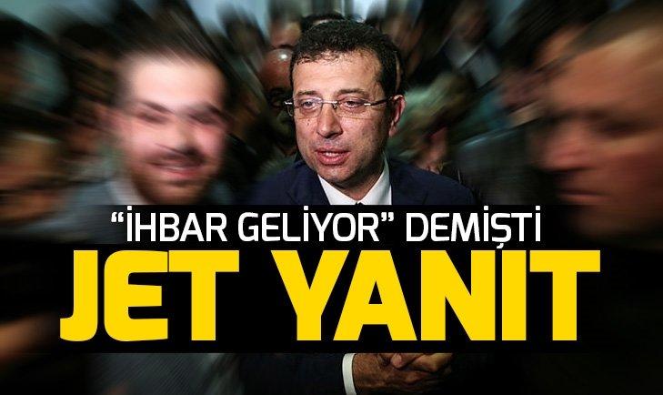 İstanbul Büyükşehir Belediyesi'nden Ekrem İmamoğlu'nun açıklamalarına jet yanıt