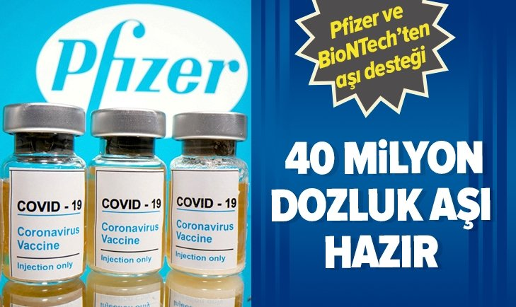 Pfizer ve BioNTech'ten aşı desteği