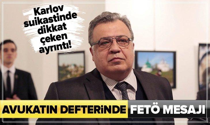 RUS ELÇİ ANDREY KARLOV SUİKASTİNDE DİKKAT ÇEKEN AYRINTI!