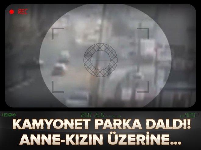 ANKARA'DA KAMYONET PARKA DALDI