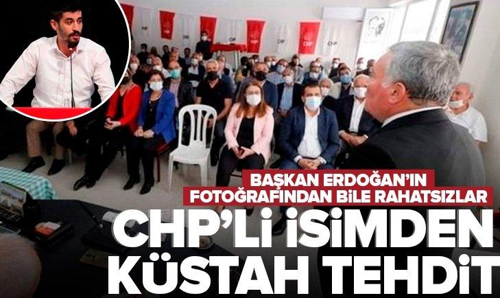 CHPDenizli Gençlik Kolları BaşkanıTugay Odabaşıoğlu'ndan odalarına Başkan Erdoğan'ın fotoğraflarını asanlara densiz tehdit