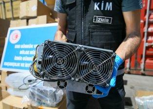 İzmir'de 5 milyon değerinde kripto para üretim cihazları ele geçirildi!