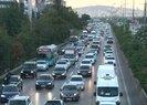 Deprem trafiği havadan görüntülendi