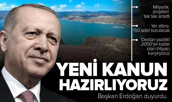 Son dakika: Başkan Erdoğan'dan Suyun Gücü Milletle Buluşuyor Toplu Açılış Töreni'nde önemli açıklamalar